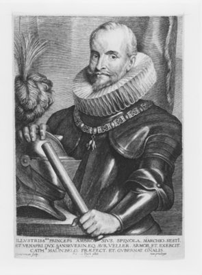 Fine Art Print of Portrait of General Ambrosio Spinola, engraved by Lucas Emil Vorstermann, 1638 by Sir Anthony van Dyck