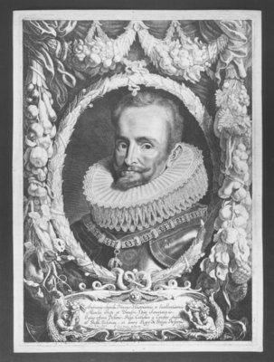 Fine Art Print of Portrait of Ambrosio Spinola, engraved by Jacob Louys, published by Pieter Claesz Soutman, between 1640-1657 by Sir Anthony van Dyck