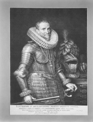 Half-length portrait of Don Ambrosio Spinola Poster Art Print by Michiel Jansz. van Mierevelt