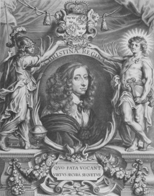 Fine Art Print of Portrait of Christina of Sweden, delegate of the Treaty of Muenster,24 October 1648 by Anselmus van Hulle