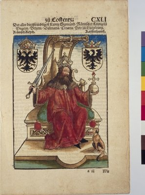 Portrait of Sigismund, Holy Roman Emperor, from Chronik des Konstanzer Konzils Poster Art Print by Joerg the Elder Breu