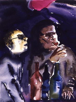 Fine Art Print of Jazz Cafe, 1998 by Hilary Rosen