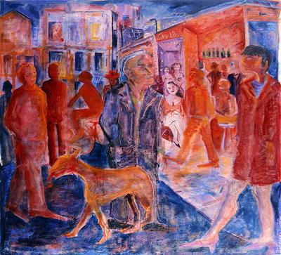 Fine Art Print of Red Street, 2007-08 by Hilary Rosen