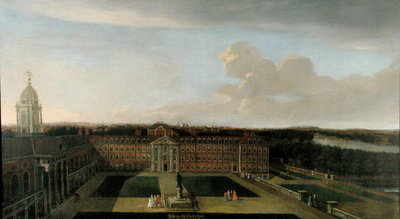 Fine Art Print of The Royal Hospital, Chelsea, 1717 by Dirk Maes