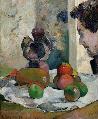 Still Life with Profile of Laval, 1886 Poster Art Print by Paul Gauguin
