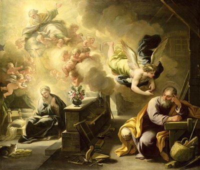 The Dream of St Joseph, c.1692-1702 Poster Art Print by Luca Giordano