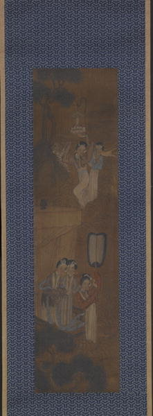 Five women in a Procession Poster Art Print by Chinese School