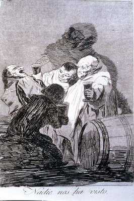 193-0082179 No one has seen us, plate 79 of 'Los caprichos', 1799 Poster Art Print by Francisco Jose de Goya y Lucientes