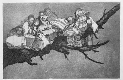Ridiculous dream, plate 3 of 'Proverbs', 1819-23, pub. 1864 Poster Art Print by Francisco Jose de Goya y Lucientes