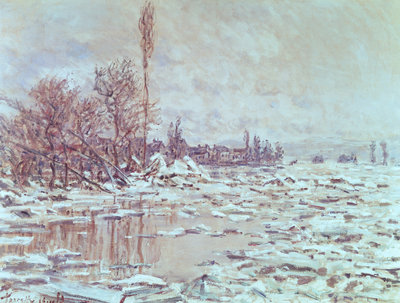 Fine Art Print of The Ice Breaking Up, 1880 by Claude Monet