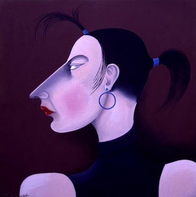 Women in Profile Series, No. 1, 1998 Poster Art Print by John Wright