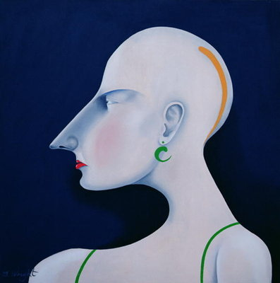 Women in Profile Series, No. 6, 1998 Poster Art Print by John Wright