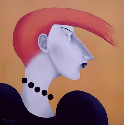 Women in Profile Series, No. 9, 1998 Poster Art Print by John Wright