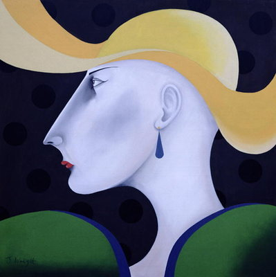 Women in Profile Series, No.19, 1998 Poster Art Print by John Wright