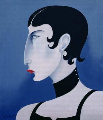 Women in Profile Series, No. 20, 1998 Poster Art Print by John Wright