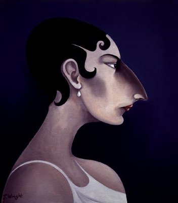 Women in Profile Series, No. 21, 1998 Poster Art Print by John Wright