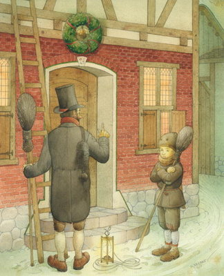 Fine Art Print of Chimney-sweep Christmas 01, 2001 by Kestutis Kasparavicius