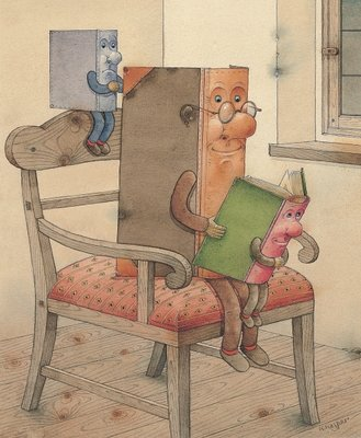 Fine Art Print of Three Books, 2003 by Kestutis Kasparavicius