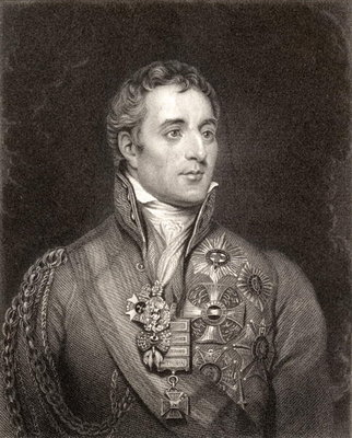 Portrait of Arthur Wellesley, 1st Duke of Wellington Poster Art Print by English School