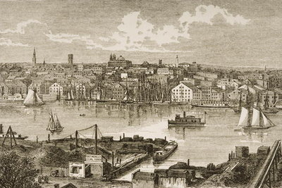 Fine Art Print of Baltimore, in c.1870, from 'American Pictures' published by the Religious Tract Society, 1876 by English School