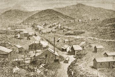 Fine Art Print of Silver City, Nevada, c.1870, from 'American Pictures', published by The Religious Tract Society, 1876 by English School