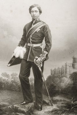 Fine Art Print of Albert Edward by John Jabez Edwin Paisley Mayall