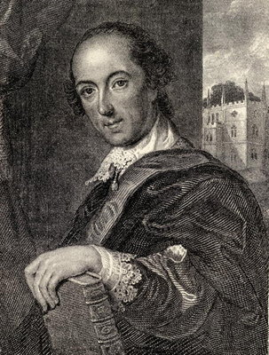 Horace Walpole, illustration from 'Memoirs of Eminent Etonians', by Sir Edward Creasy published London 1876 Poster Art Print by John Giles Eccardt