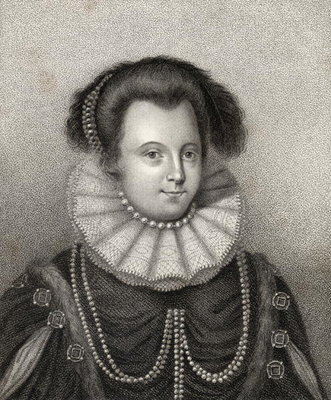 Fine Art Print of Lady Margaret Russell, engraved by Bocquet, illustration from 'A catalogue of Royal and Noble Authors, Volume II', published in 1806 by English School