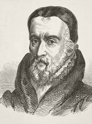 William Tyndale, from 'The National and Domestic History of England' by William Hickman Smith Aubrey Poster Art Print by English School