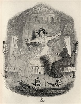 Fine Art Print of The Black Mousquetaire, from 'The Ingoldsby Legends' by Thomas Ingoldsby, published by Richard Bentley & Son, 1887 by John Leech