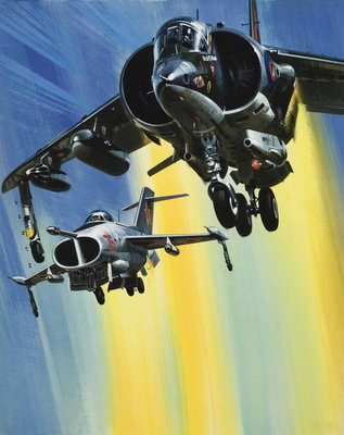 Vertical Take-off jets Poster Art Print by Wilf Hardy