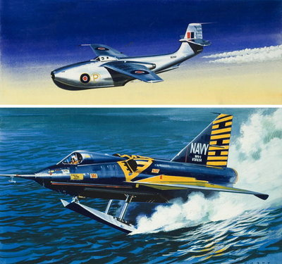 Fine Art Print of Flying Boat Fighter by Wilf Hardy