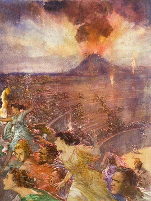 Fine Art Print of Eruption of Vesuvius by John Millar Watt