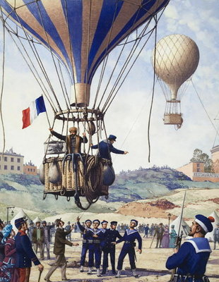 Fine Art Print of The Wonderful Story of France: Paris is Besieged by Pat Nicolle