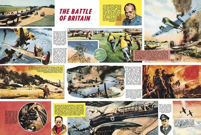 Fine Art Print of The Battle of Britain by Frank Bellamy