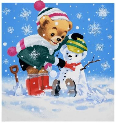 Teddy Bear Poster Art Print by English School