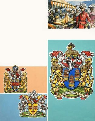 The Guilds of London: The Worshipful Company of Drapers Poster Art Print by Dan Escott