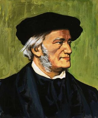 Portrait of Richard Wagner, composer of The Flying Dutchman Poster Art Print by English School