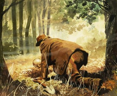 Fine Art Print of Piltdown Man - the 'discovery' imagined by English School
