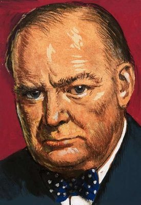 Winston Churchill Poster Art Print by Clive Uptton