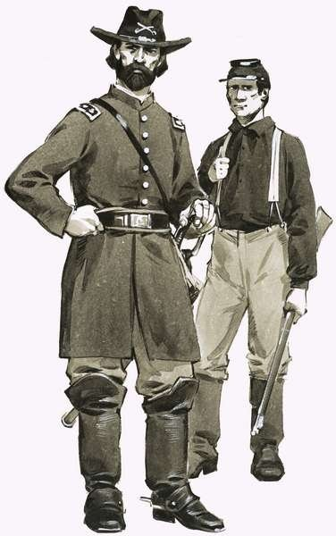 Fine Art Print of A US Cavalry officer and trooper by Angus McBride