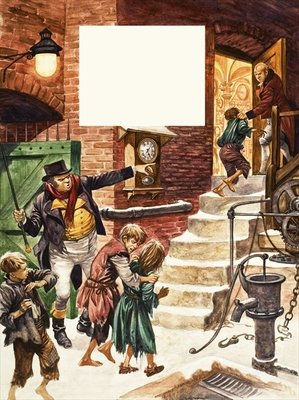 Fine Art Print of Working children of Victorian Britain by Peter Jackson
