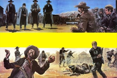Showdown at Tombstone Poster Art Print by Graham Coton
