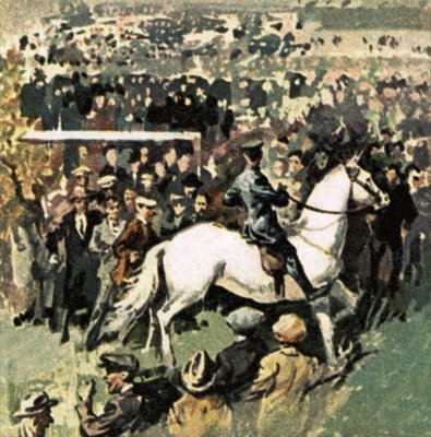 Fine Art Print of White Horse at the 1923 Cup Final at Wembley by English School