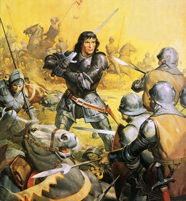 King Richard III in battle Poster Art Print by James Edwin McConnell