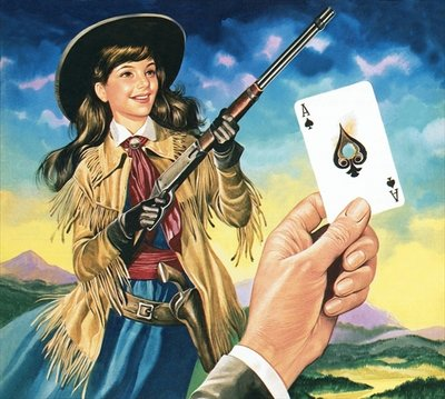 Miss Annie Oakley Poster Art Print by Ron Embleton