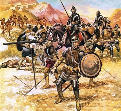 Francisco de Coronado's expedition into the American West Poster Art Print by Ron Embleton