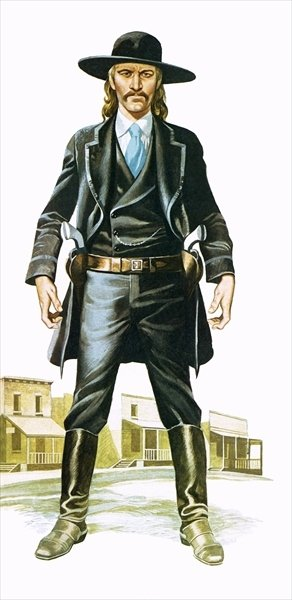 Wild Bill Hickok Poster Art Print by Ron Embleton