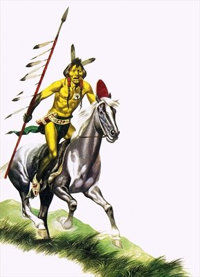 Cheyenne warrior Poster Art Print by Ron Embleton