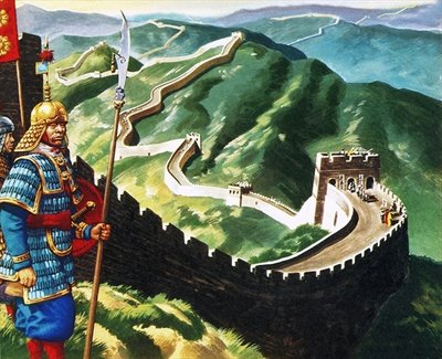 The Great Wall of China Poster Art Print by Ron Embleton